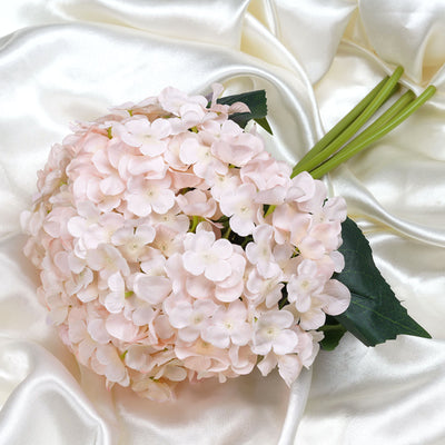 4 Pack  Artificial Hydrangea Flower Bridal Bouquet- Rose Gold | Blush