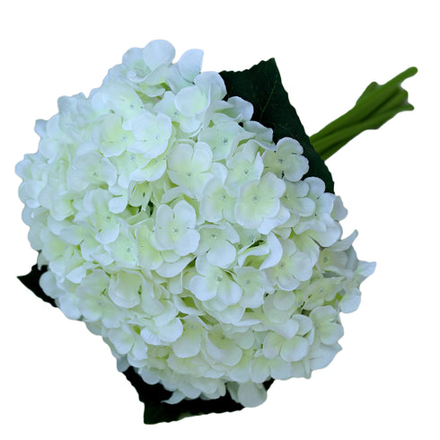 4 Pack Cream Artificial Silk Hydrangea Flowers