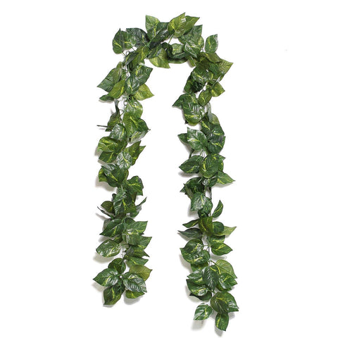 8 Ft Green UV Protected Ivy Silk Leaf Chain Artificial Garlands