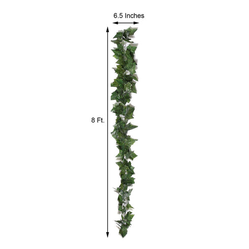 8 Ft Green UV Protected Ivy Vine Leaf Chain Artificial Garlands