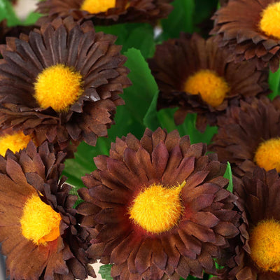 108 Silk Daisy - Chocolate