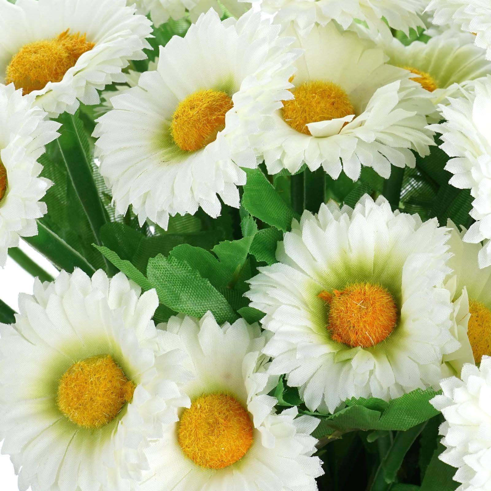 108 Artificial Silk Daisy Flowers Cream Efavormart