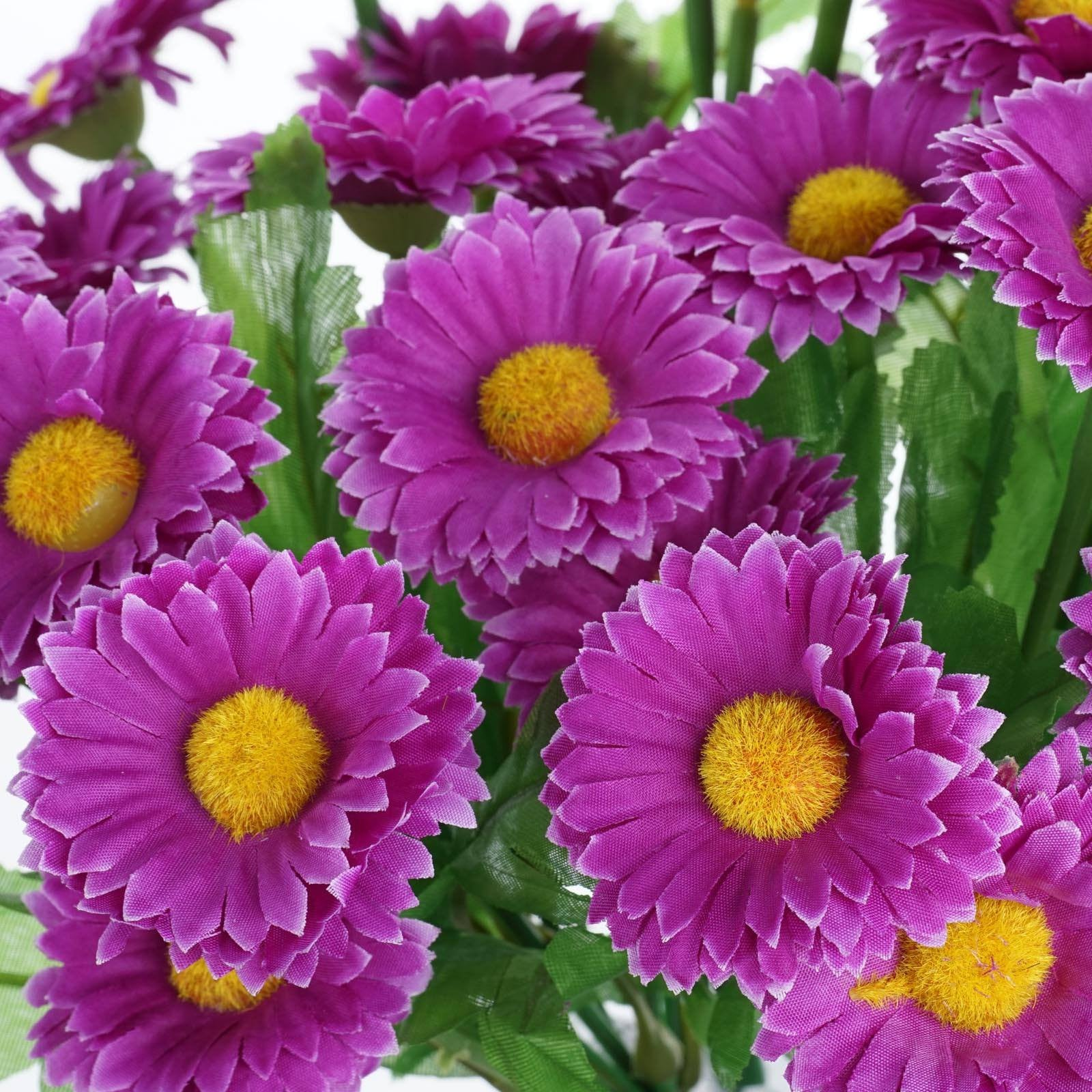 108 Artificial Silk Daisy Flowers Purple Efavormart