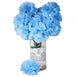 4 Bush 36 Pcs Light Blue Artificial Giant Silk Carnation Flowers