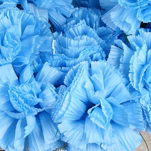 36 GIANT Your-Special-Day Carnations - Light Blue