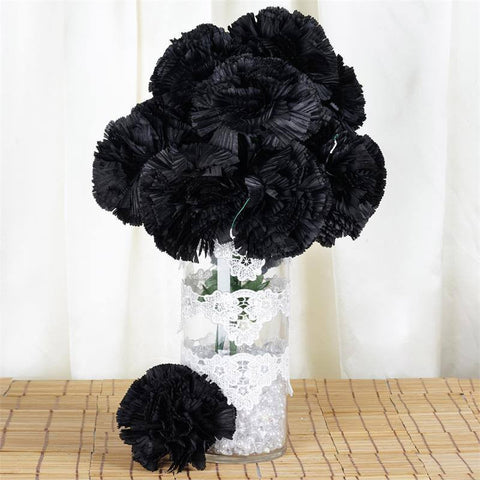 36 GIANT Your-Special-Day Carnations - Black