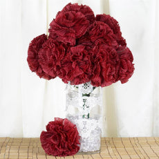 36 GIANT Your-Special-Day Carnations - Burgundy