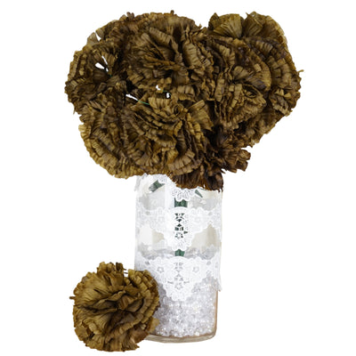 4 Bush 36 Pcs Chocolate Artificial Giant Silk Carnation Flowers