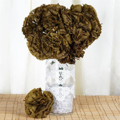 4 Bushes | 36 Pcs Carnation Artificial Silk Flowers | Real Touch Wholesale Fake Flowers