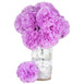 4 Bush 36 Pcs Lavender Artificial Giant Silk Carnation Flowers