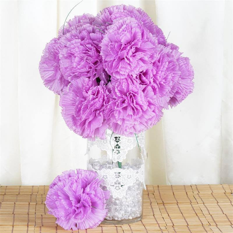 36 GIANT Your-Special-Day Carnations - Lavender