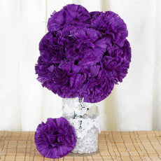 36 GIANT Your-Special-Day Carnations - Purple