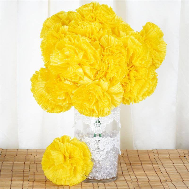 36 artificial yellow giant carnation flowers wedding bridal bouquet 36 giant your special day carnations yellow mightylinksfo