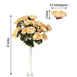 4 Bush 96 Pcs Crayon Artificial Giant Silk Open Rose Flowers