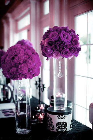 96 Artificial Giant Silk Open Roses - Eggplant