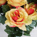 4 Bushes | 96 Pcs Rose Artificial Silk Flowers | Real Touch Wholesale Fake Flowers