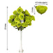 4 Bush 96 Pcs Lime Artificial Giant Silk Open Rose Flowers
