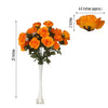4 Bush 96 Pcs Orange Artificial Giant Silk Open Rose Flowers