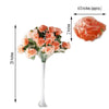 4 Bush 96 Pcs Peach Artificial Giant Silk Open Rose Flowers