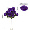 4 Bush 96 Pcs Purple Artificial Giant Silk Open Rose Flowers