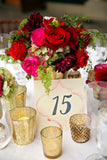 96 Artificial Giant Silk Open Roses Wedding Flower Vase Centerpiece Decor - Red