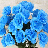 96 Artificial Giant Silk Open Roses Wedding Flower Vase Centerpiece Decor - Turquoise( Sold Out )
