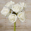 12 Pack 72 pcs Cream Artificial Foam Rose Flowers