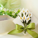 42 Artificial Giant Calla Lilies Wedding Flower Vase Centerpiece Decor - Cream