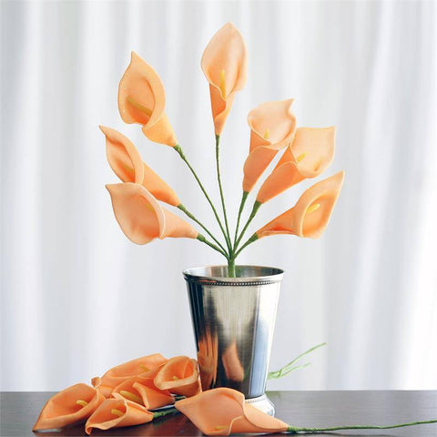 42 LIFESIZE Calla Lilies - Orange