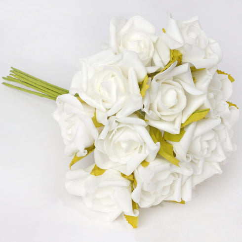 72 x Blooming Silk Rose Buds - Cream