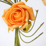 72 x Blooming Silk Rose Buds - Orange