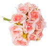 6 Pack 72 Pcs Pink Artificial Foam Rose Flowers