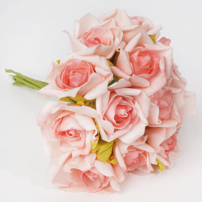 72 x Blooming Silk Rose Buds - Pink