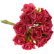 6 Pack 72 Pcs Red Artificial Foam Rose Flowers