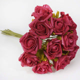 72 x Blooming Silk Rose Buds - Red