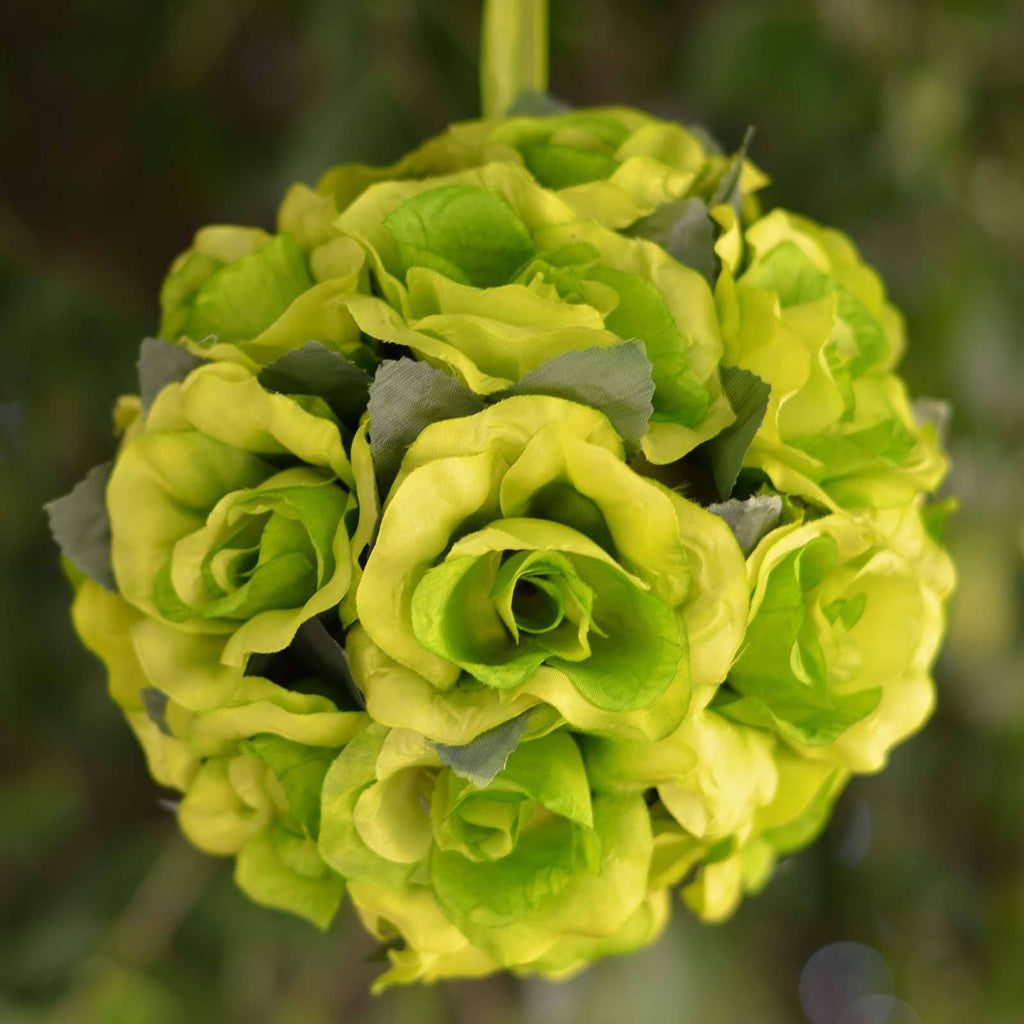 Rose Pomander Kissing Balls - Lime- 4 PCS