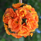 Rose Pomander Kissing Balls - Orange- 4 PCS
