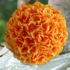 4 Pack Orange Hydrangea Kissing Flower Balls