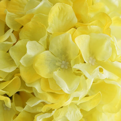 4 Pack Yellow Hydrangea Kissing Flower Balls