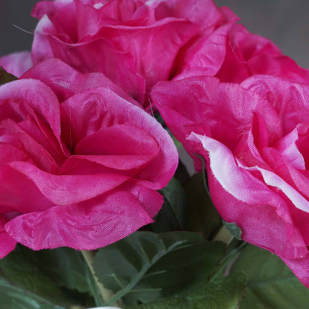 6 x The Perfect Hollywood Bouquet Fushia Roses