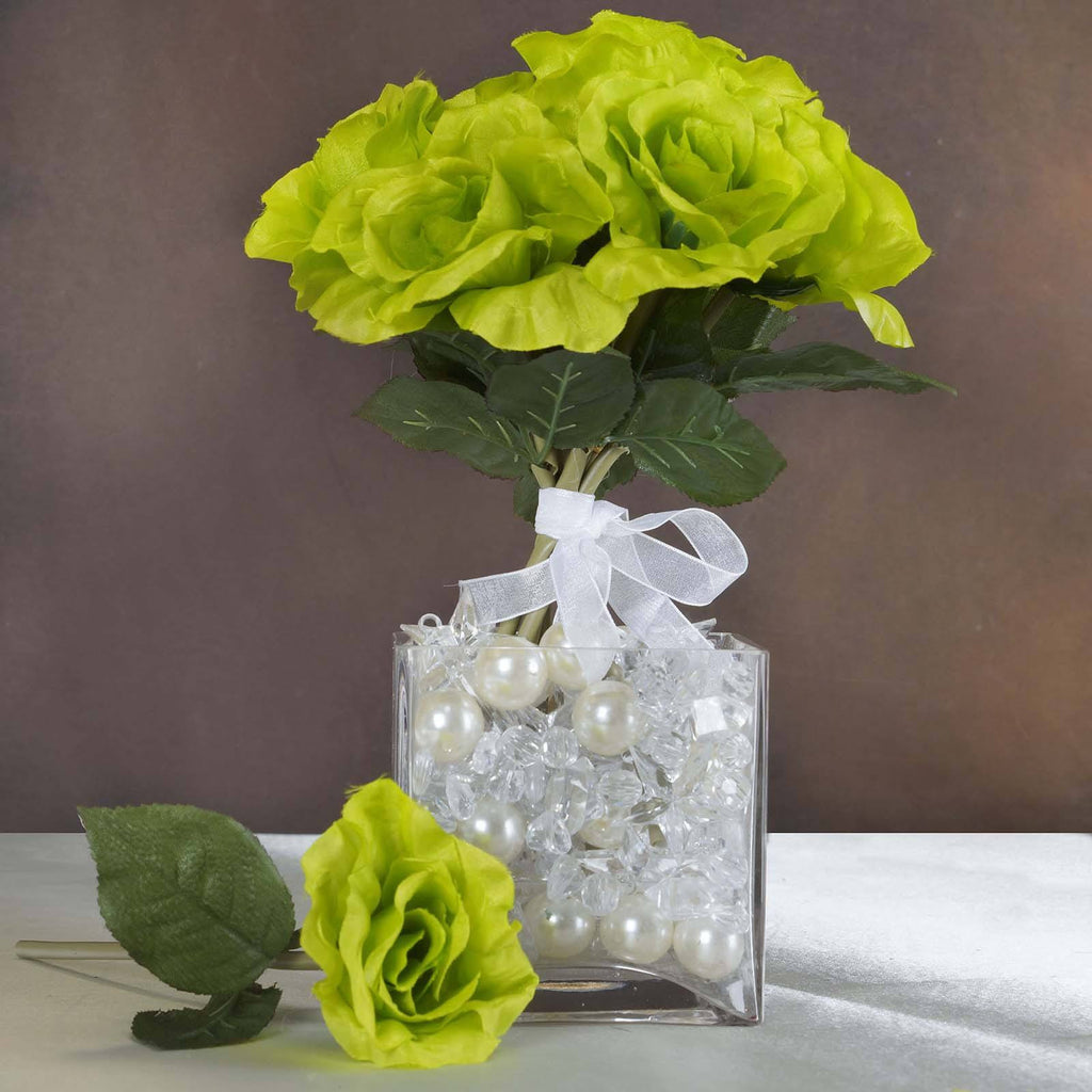6 x The Perfect Hollywood Bouquet Lime Roses
