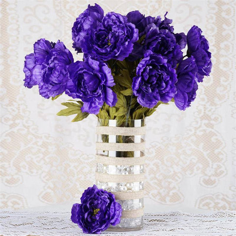 42 QUEEN Peony Flowers - Purple