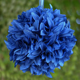 4 x LETS FLY TOGETHER Dahlia Kissing Balls Royal Blue