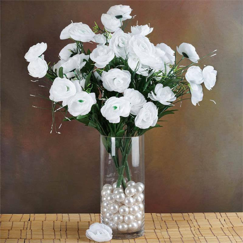 72 artificial buttercup bulb flowers white efavormart 72 buttercup ranunculus bulb flowers white mightylinksfo