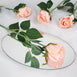24 pcs Blush | Rose Gold Artificial Long Stem Silk Rose Flowers With Green Leaves