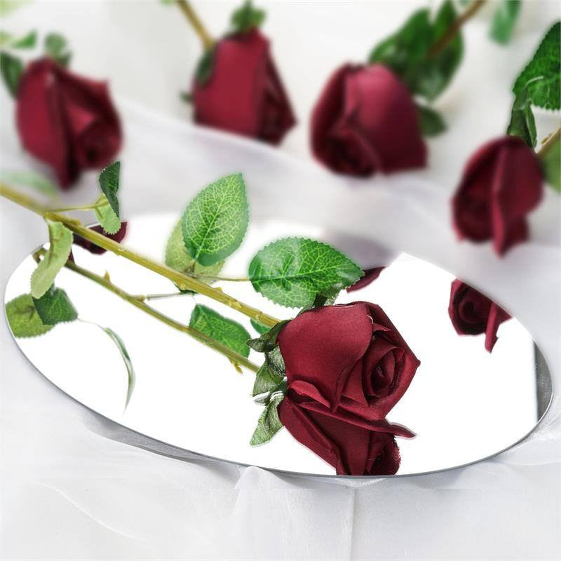 24 Long Stem Roses - Burgundy