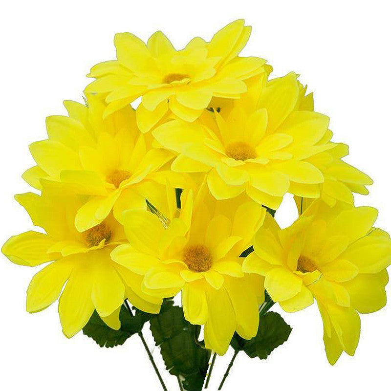 108 Artificial Westfield Alba Flowers Bridal Bouquet Wedding Vase Centerpiece Decor-Yellow