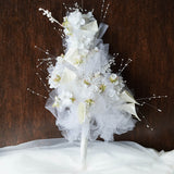 20'' Cream Handcrafted Bridal Bouquet Of Tulips & Lillies Flowers