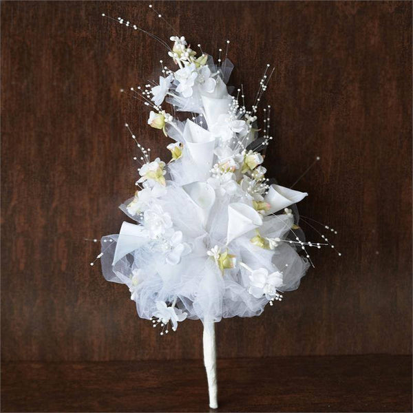 20'' White Lily and Tulip Bouquet - Artificial Bridal Bouquet