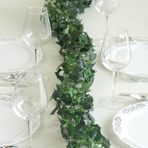 6 Ft Green UV Protected Artificial Ivy Garland Foliage